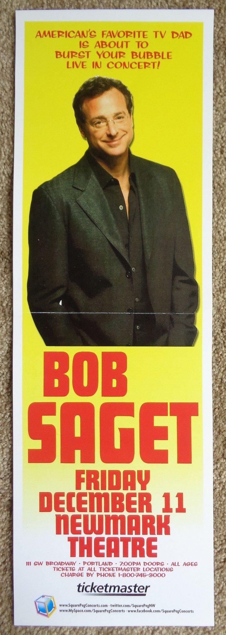 Image 0 of Saget BOB SAGET 2009 Gig 5x17 POSTER Portland Oregon Comedy