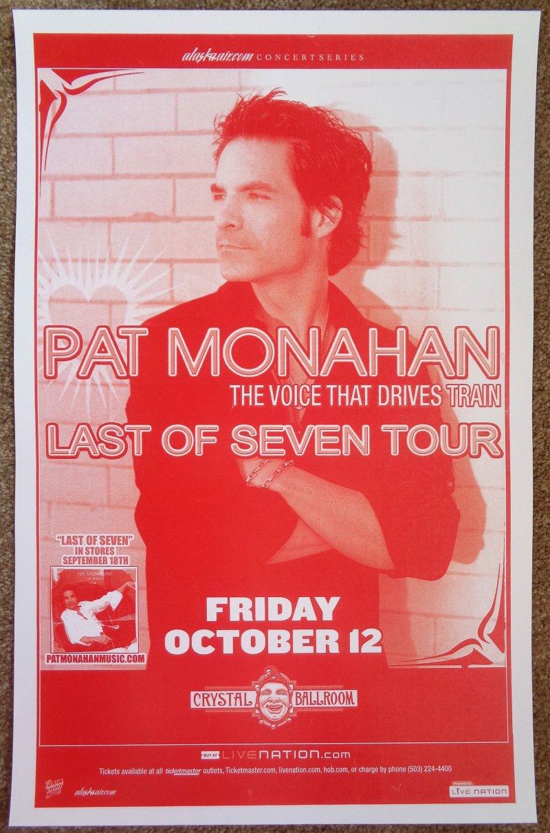Image 0 of Monahan PAT MONAHAN of TRAIN 2007 Gig POSTER Portland Oregon Concert
