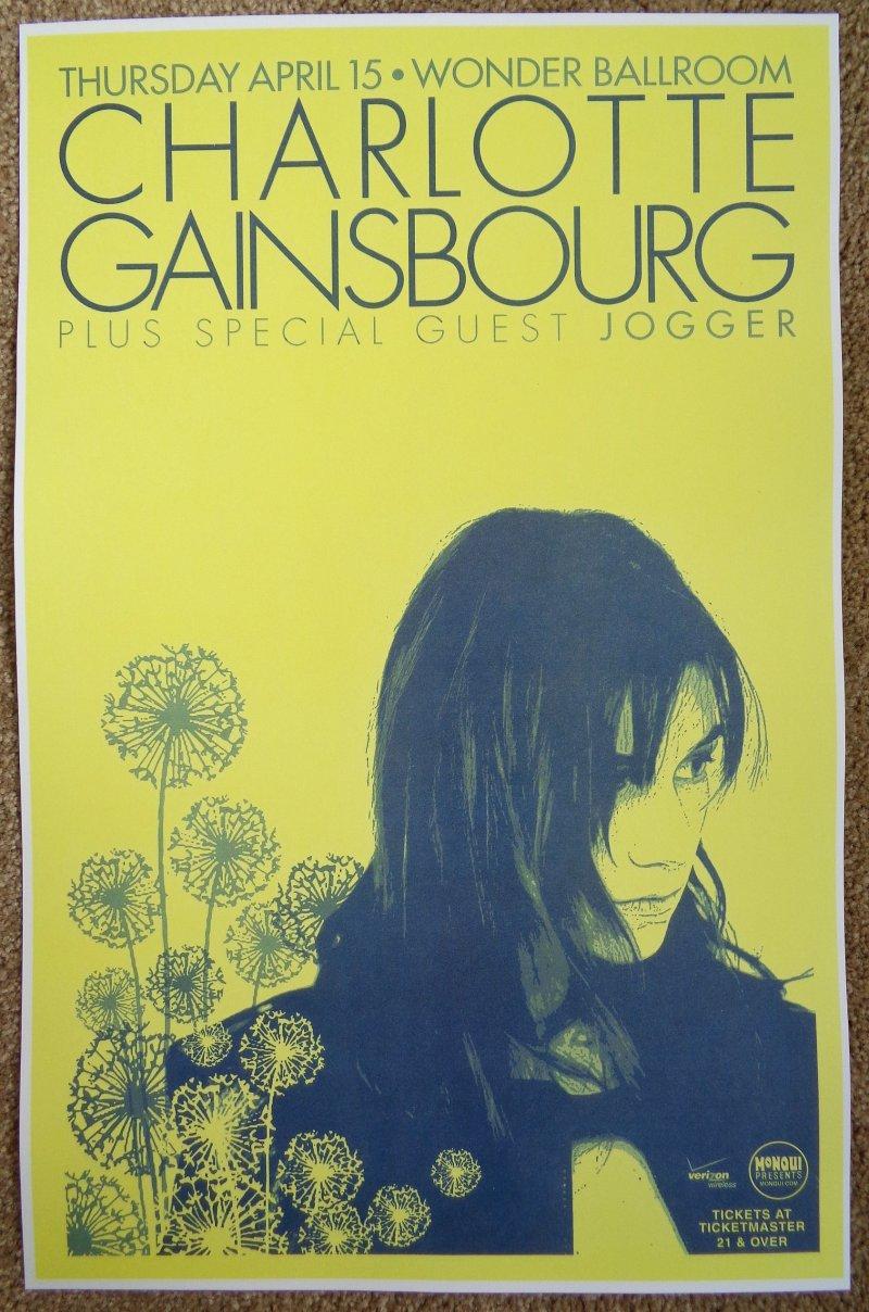 Gainsbourg CHARLOTTE GAINSBOURG 2010 Gig POSTER Portland Oregon Concert  Vers 1