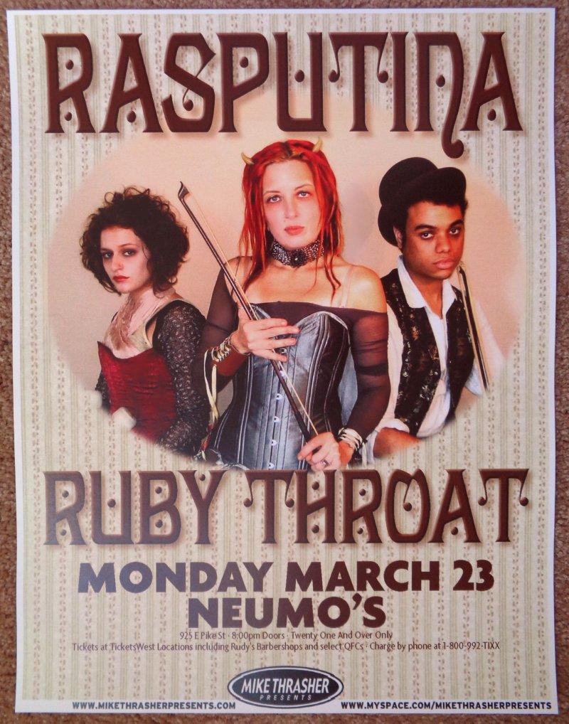 Image 0 of RASPUTINA 2009 Gig POSTER Seattle Washington Concert