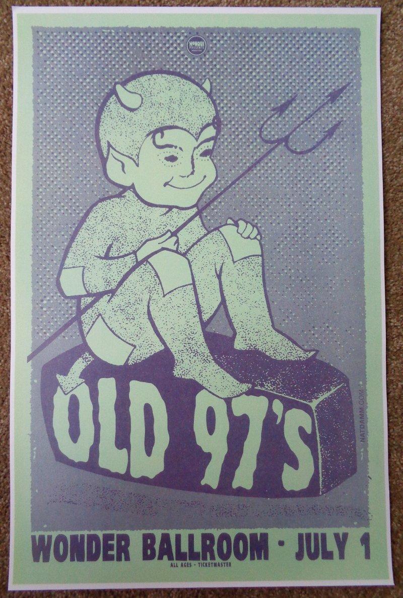 Image 0 of OLD 97'S Rhett Miller 2010 Gig POSTER Portland Oregon Concert