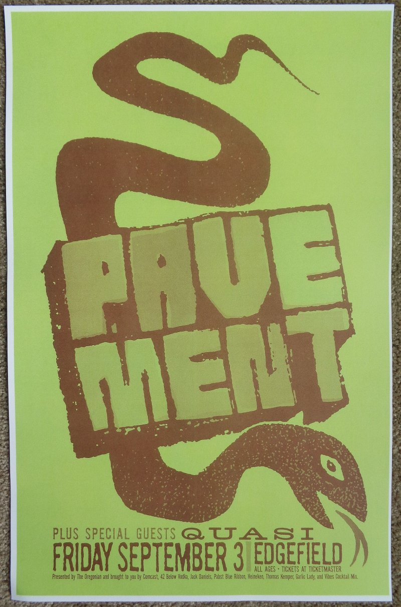 Image 0 of PAVEMENT POSTER Stephen Malkmus Edgefield Portland Oregon 2010 Gig Concert