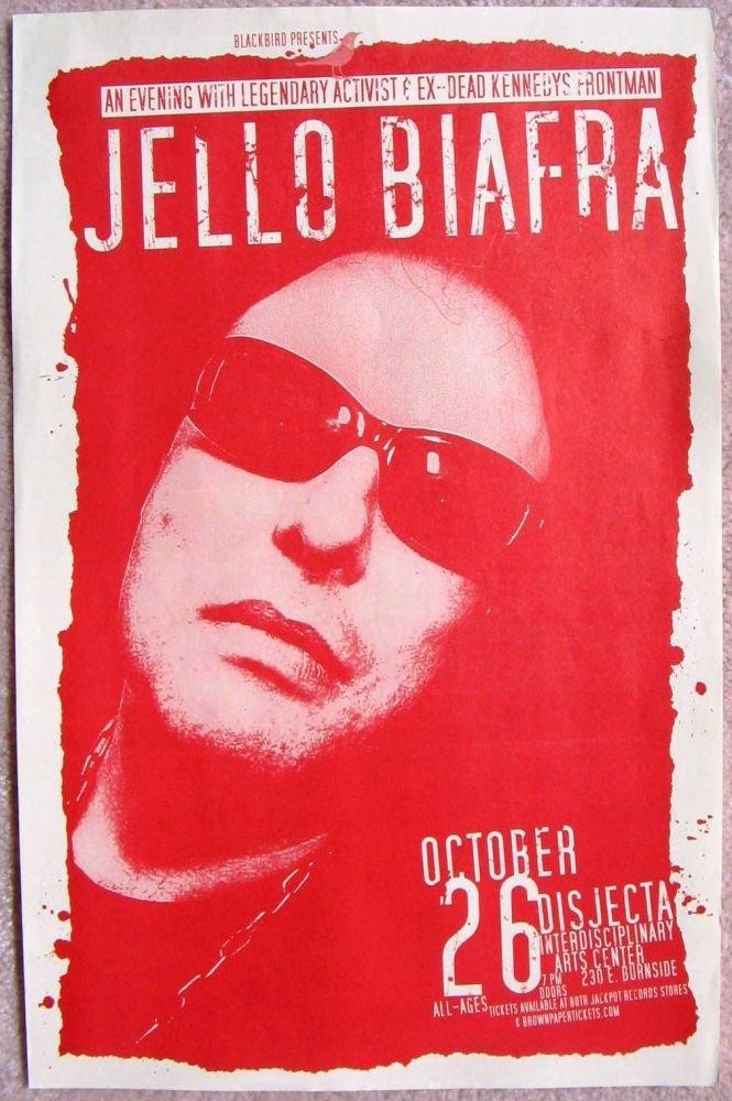 Biafra JELLO BIAFRA 2006 Gig POSTER Dead Kennedys Portland Oregon Concert