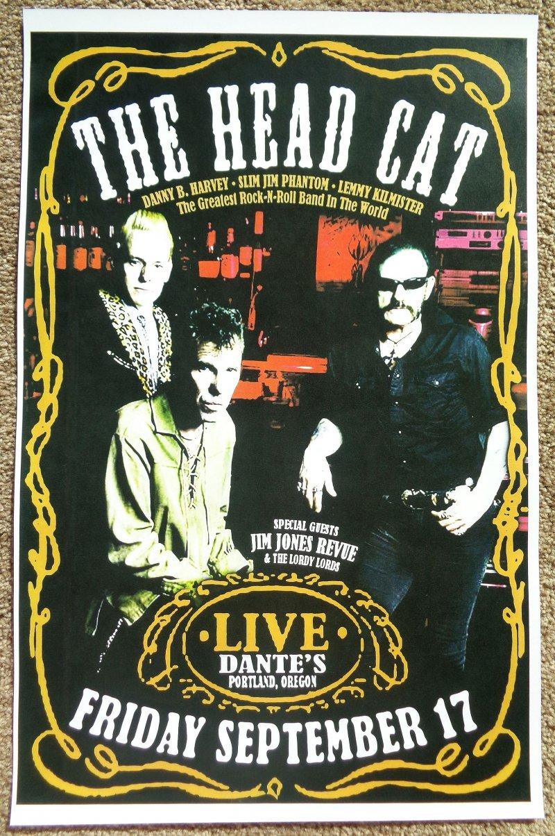 Image 0 of HEAD CAT Lemmy Motorhead 2010 Gig POSTER THE HEAD CAT Portland Oregon Concert