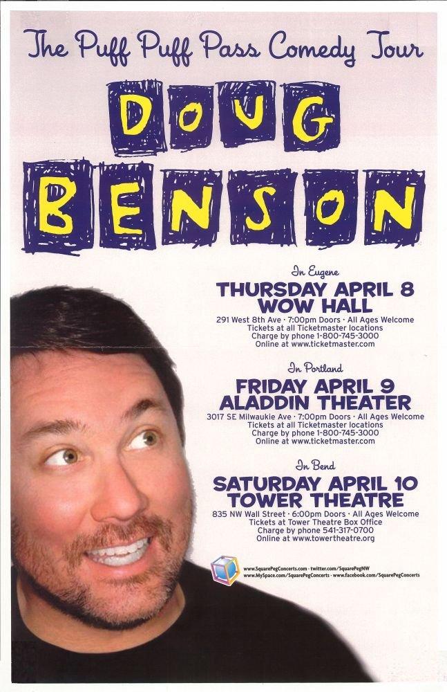 Benson DOUG BENSON 2010 Gig POSTER Portland Oregon Comedy