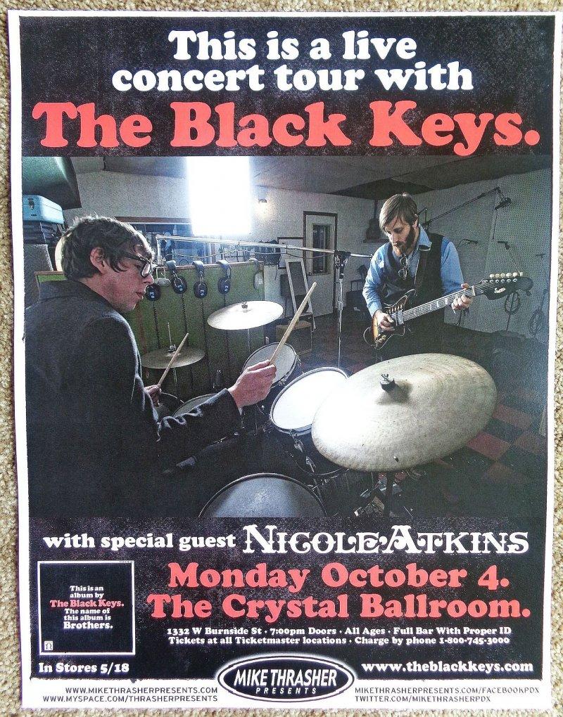 Image 0 of BLACK KEYS 2010 Gig POSTER Portland Oregon Concert