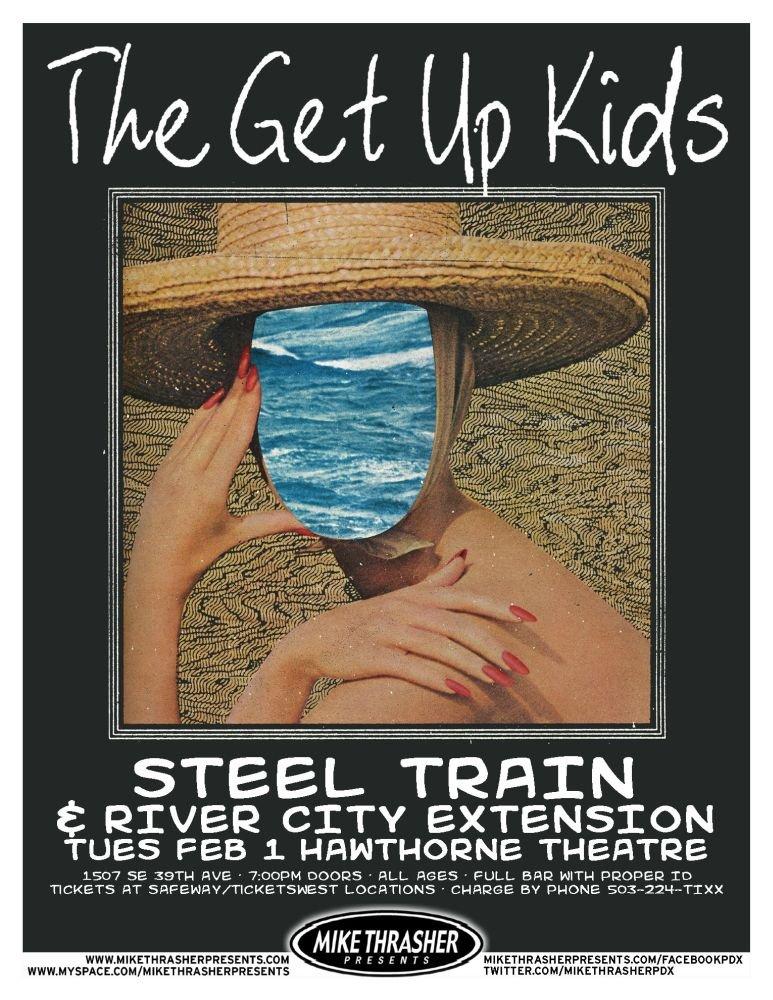 GET UP KIDS 2011 Gig POSTER Portland Oregon Concert