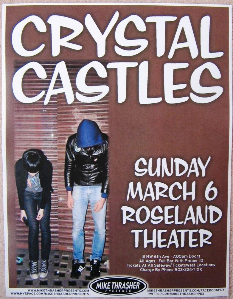Image 0 of CRYSTAL CASTLES 2011 Gig POSTER Portland Oregon Concert