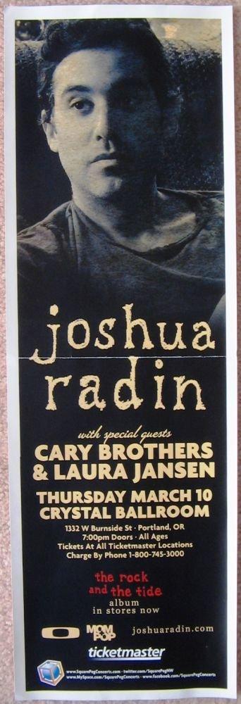 Radin JOSHUA RADIN 2011 Gig POSTER 5x17 Portland Oregon Concert