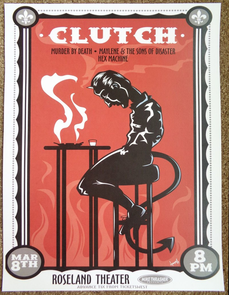Image 0 of CLUTCH 2008 Gig POSTER Portland Oregon Concert From Beale Street To Oblivion