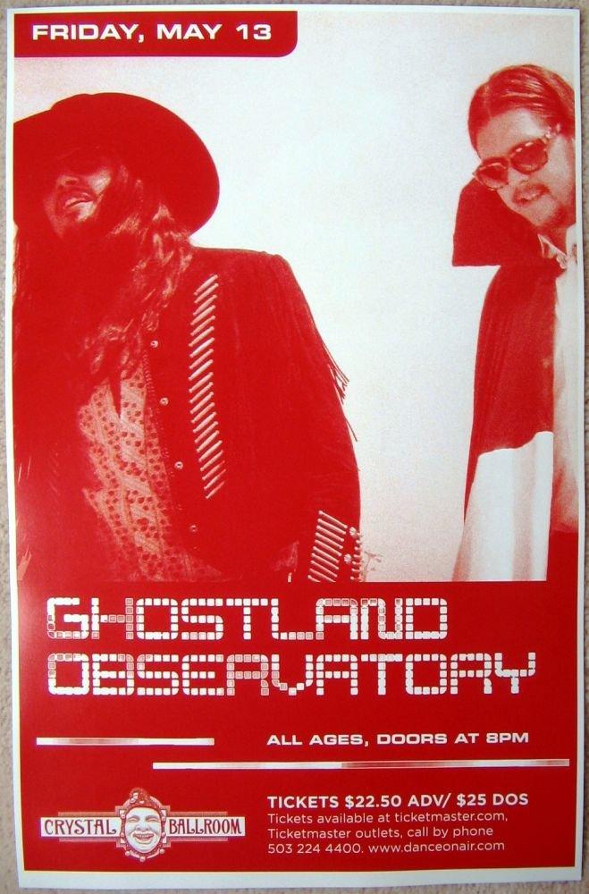 GHOSTLAND OBSERVATORY 2011 Gig POSTER Portland Oregon Concert