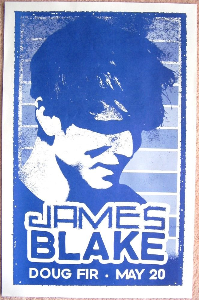 Image 0 of Blake JAMES BLAKE 2011 Gig POSTER Portland Oregon Concert