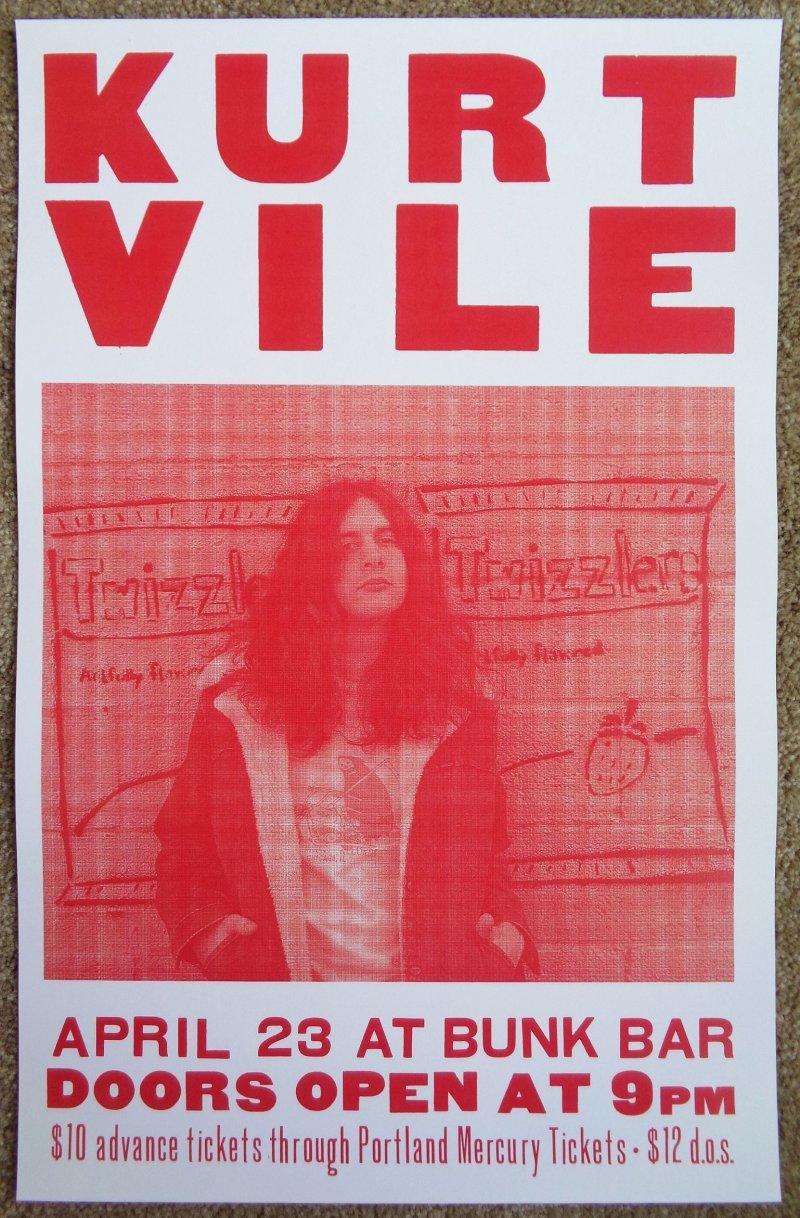 Image 0 of Vile KURT VILE 2011 Gig POSTER Portland Oregon Concert