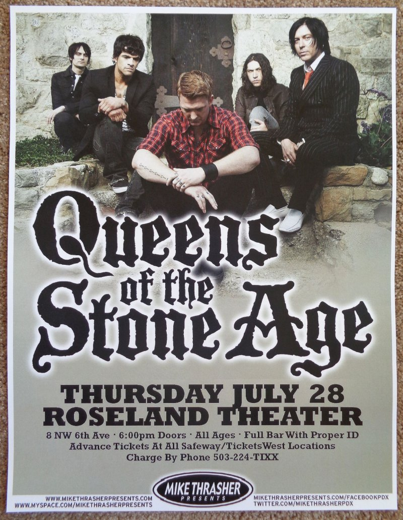 Image 0 of QUEENS OF THE STONE AGE 2011 Gig POSTER Portland Oregon Concert