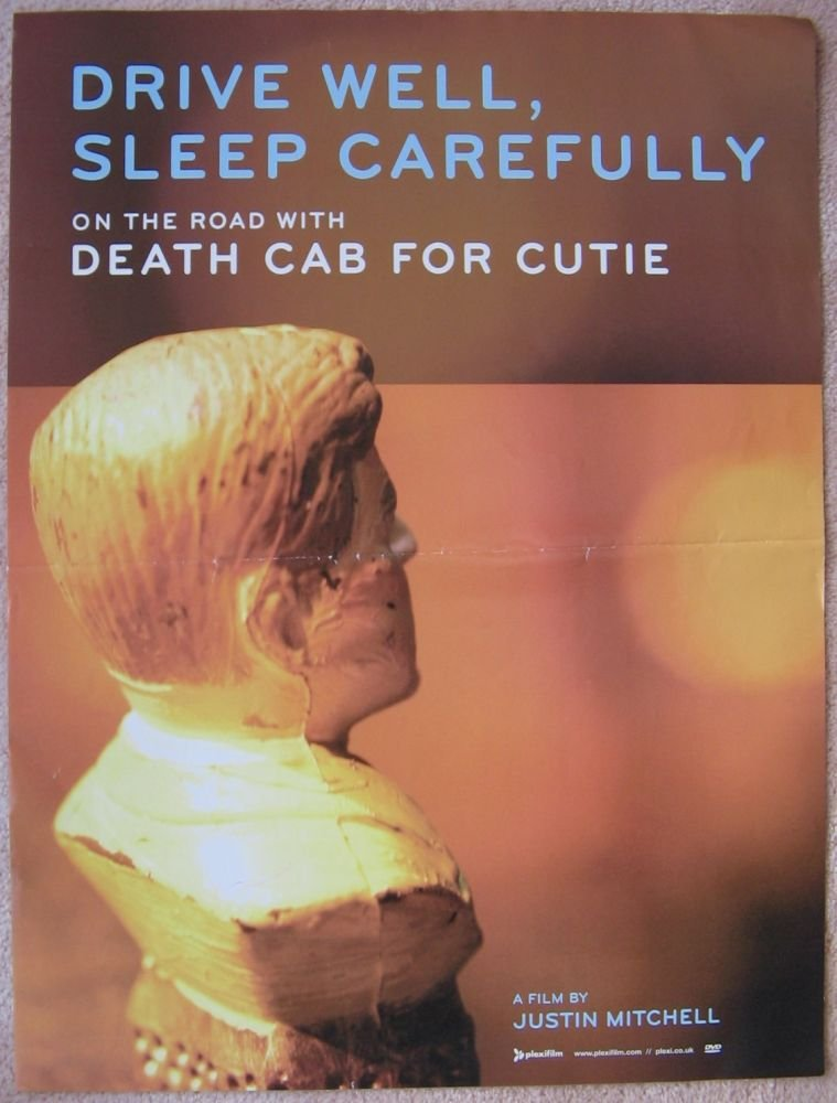 Image 0 of DEATH CAB FOR CUTIE 2005 DVD POSTER Drive Well, Sleep Carefully ? On the Road