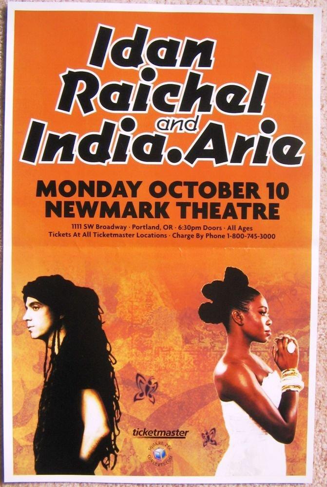 Raichel IDAN RAICHEL & INDIA ARIE 2011 Gig POSTER Portland Oregon Concert