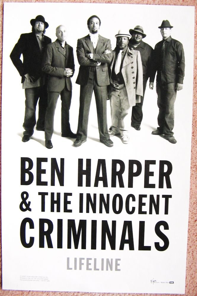 Harper BEN HARPER & The Innocent Criminals POSTER Lifeline