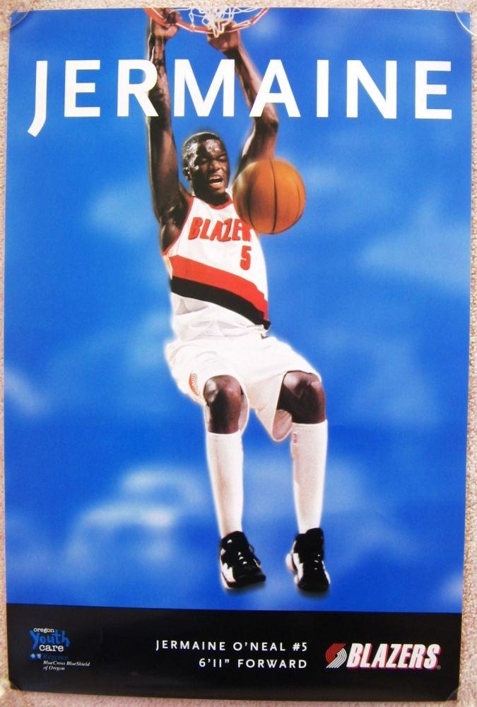 ONeal JERMAINE O'NEAL Game Handout POSTER Portland Trailblazers 1997-8 Blazers