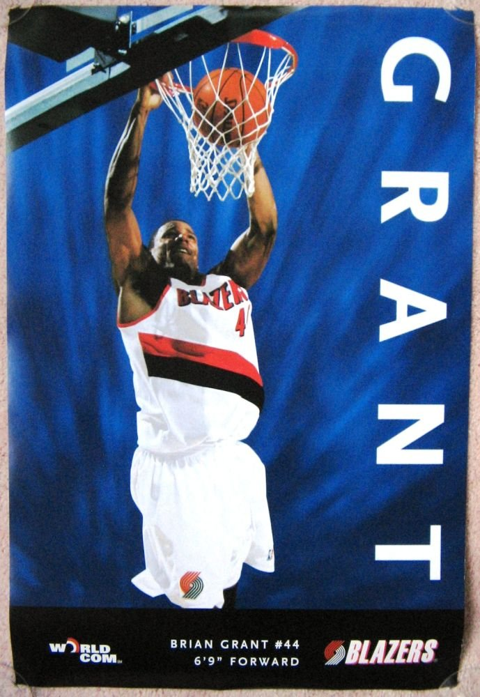 Grant BRIAN GRANT POSTER Portland 1997-8 Blazers Game Handout Trailblazers