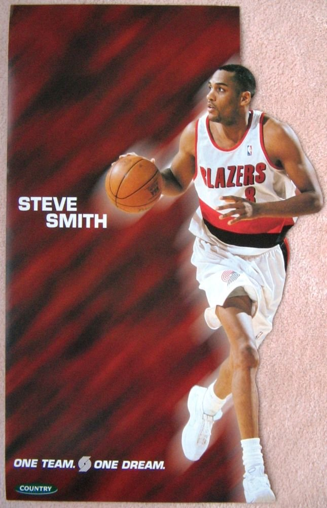 Image 0 of Smith STEVE SMITH Portland Blazers 2000-1 Game Handout POSTER Trailblazers