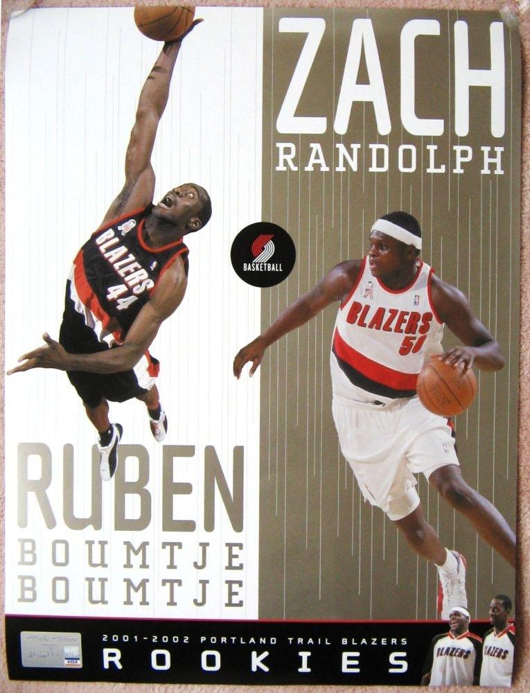 Randolph ZACH RANDOLPH & BOUMTJE 2002 Rookie Handout POSTER Portland Blazers