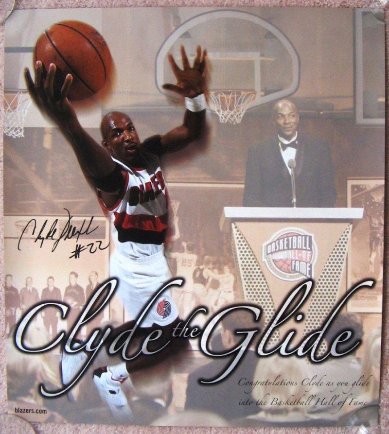 Drexler CLYDE DREXLER 04 Hall Of Fame Tribute POSTER Portland Blazers Handout