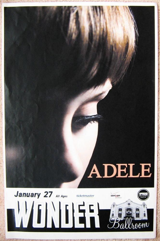 ADELE 2009 Gig POSTER Portland Oregon Laurie Blue Adkins Concert