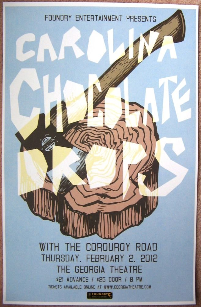 CAROLINA CHOCOLATE DROPS 2012 Gig Concert POSTER Athens Georgia