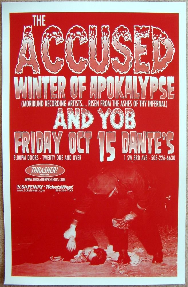Accused THE ACCUSED 2004 Gig POSTER Portland Oregon Concert