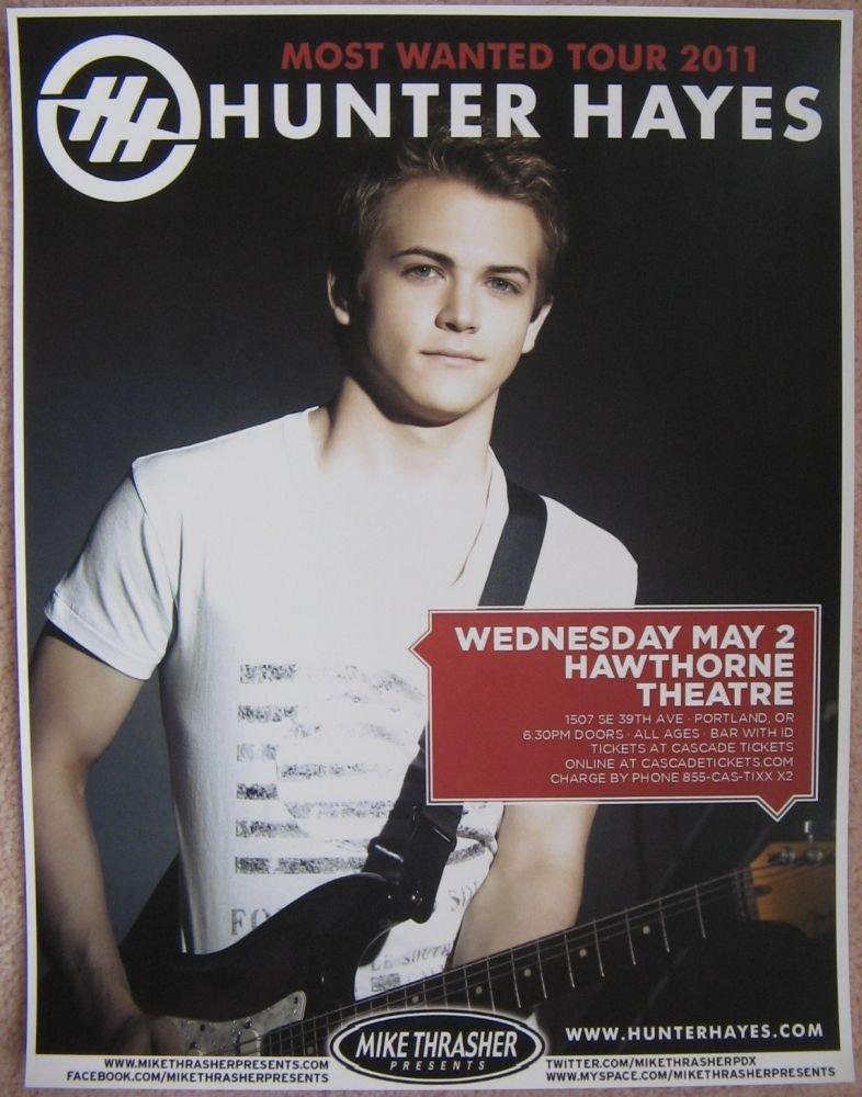 Image 0 of Hayes HUNTER HAYES 2012 Gig POSTER Portland Oregon Concert