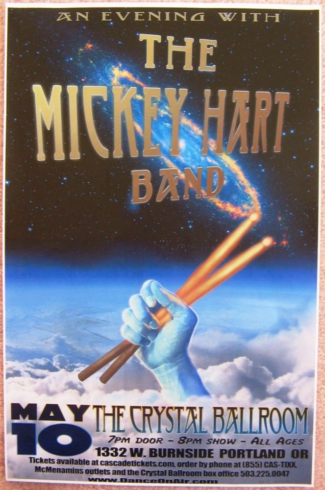 Image 0 of Hart MICKEY HART 2012 Gig POSTER Portland Oregon Concert Grateful Dead Version 1