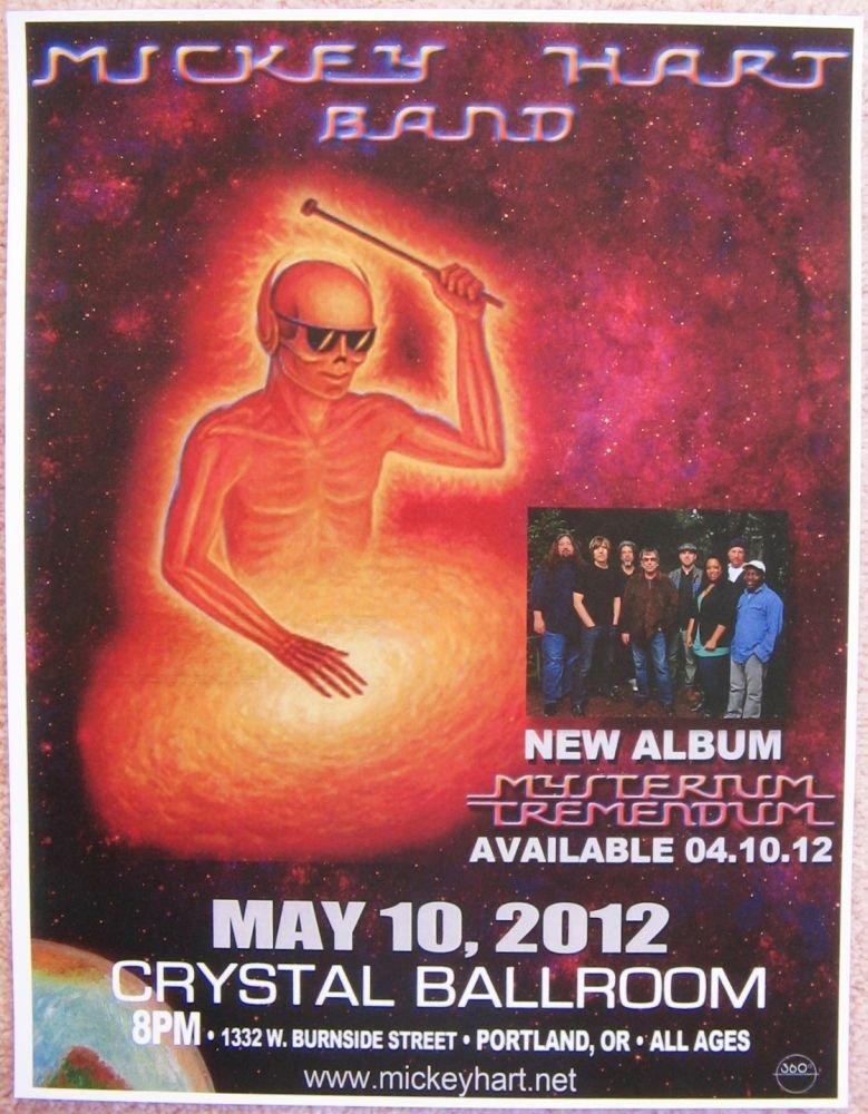 Image 0 of Hart MICKEY HART 2012 Gig POSTER Portland Oregon Concert Grateful Dead Version 2