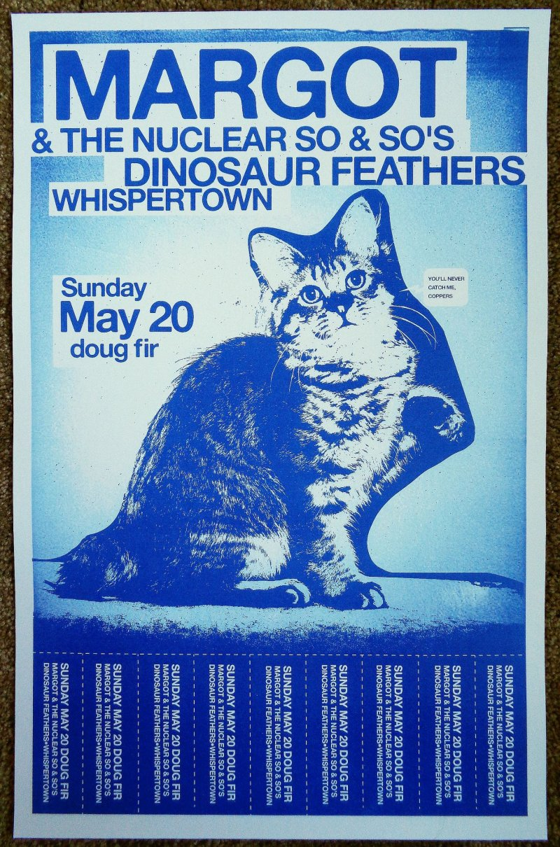 Image 0 of MARGOT & THE NUCLEAR SO AND SO'S 2012 Gig POSTER Portland Oregon Concert