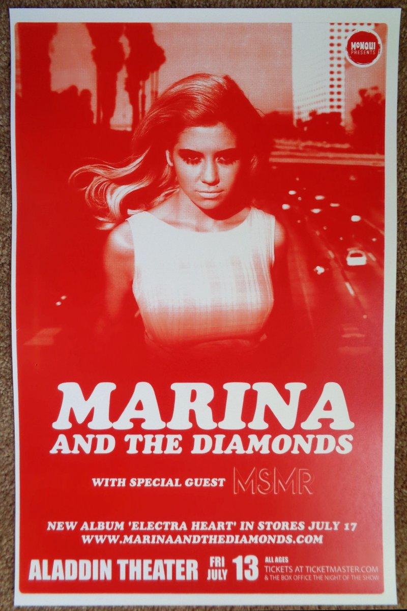 Image 0 of MARINA AND THE DIAMONDS 2012 Gig POSTER Portland Oregon Concert