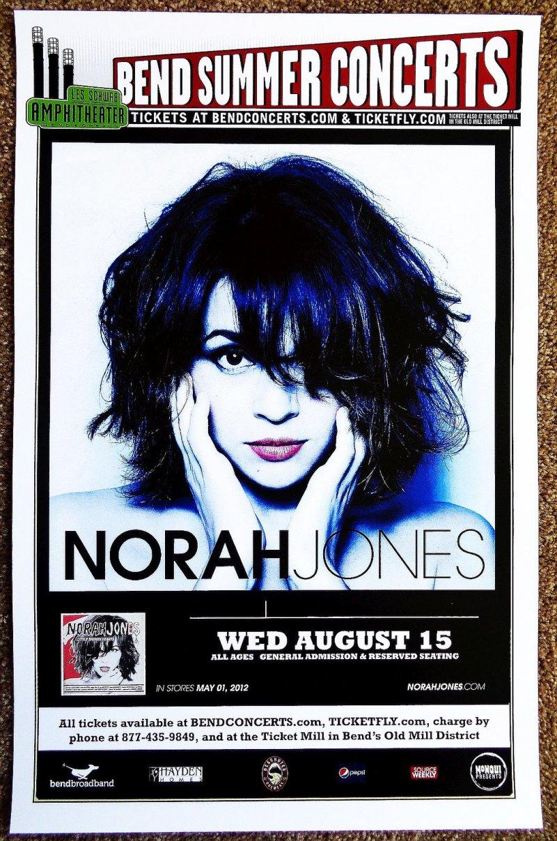 Image 0 of Jones NORAH JONES 2012 Gig POSTER Bend Oregon Concert
