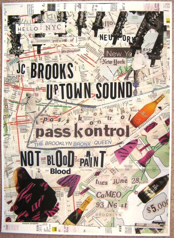 Brooks JC BROOKS & THE UPSIDE SOUND 2011 Gig POSTER Brooklyn New York Concert