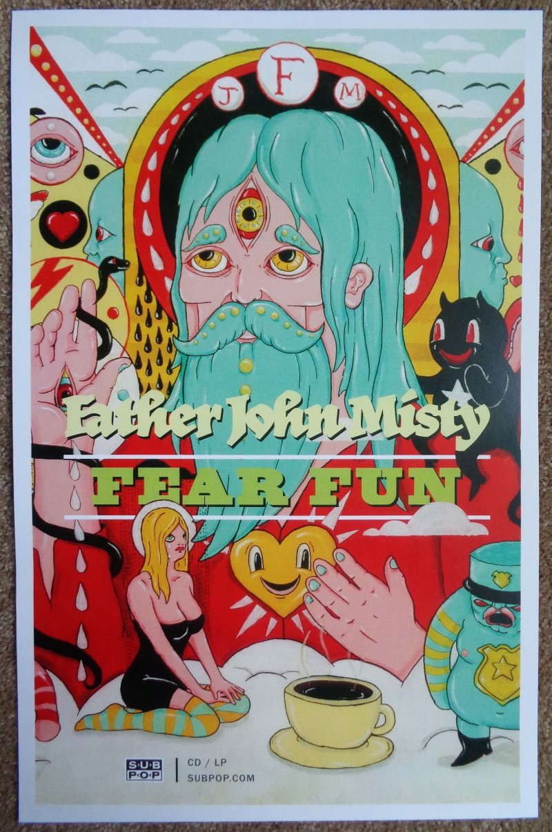 Image 0 of FATHER JOHN MISTY Fear Fun POSTER 2-Sided