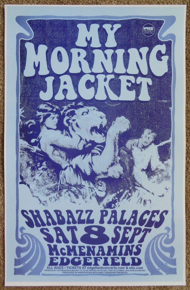 Image 0 of MY MORNING JACKET 2012 Gig POSTER Edgefield Portland Oregon Concert Version 1