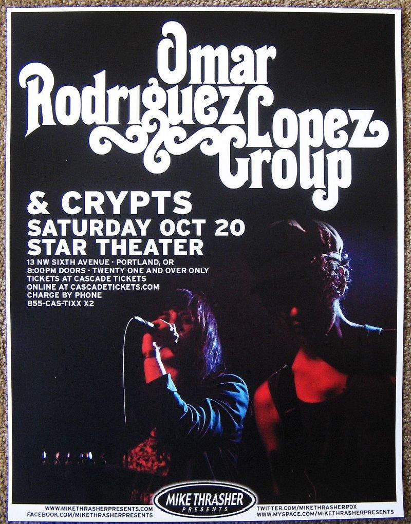 Image 0 of Rodriguez OMAR RODRIGUEZ LOPEZ GROUP 2012 Gig POSTER Portland Oregon Concert