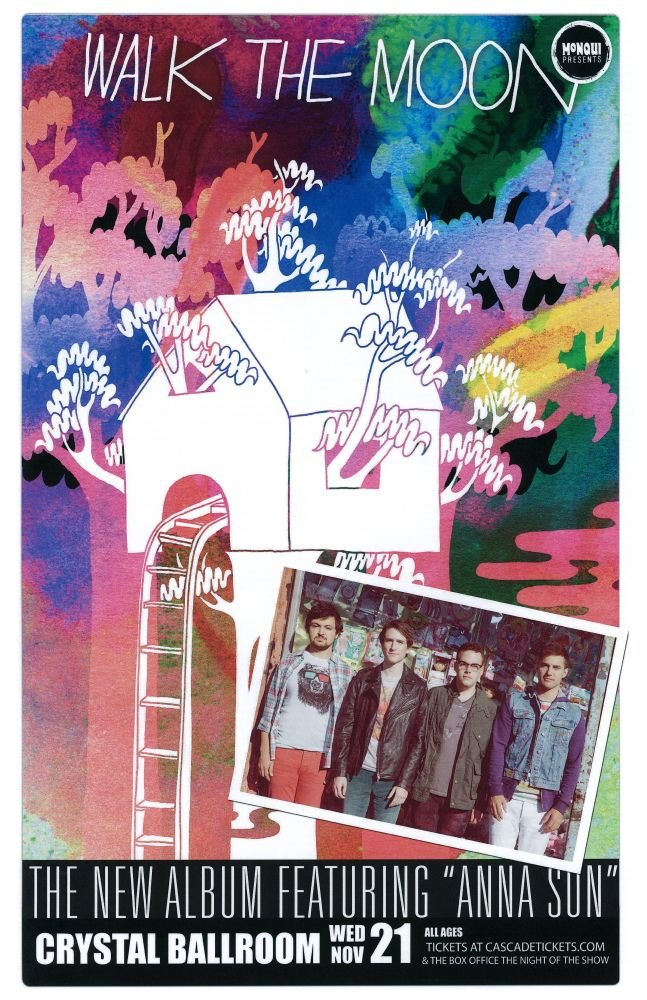 Image 0 of WALK THE MOON 2012 Gig POSTER Portland Oregon Concert