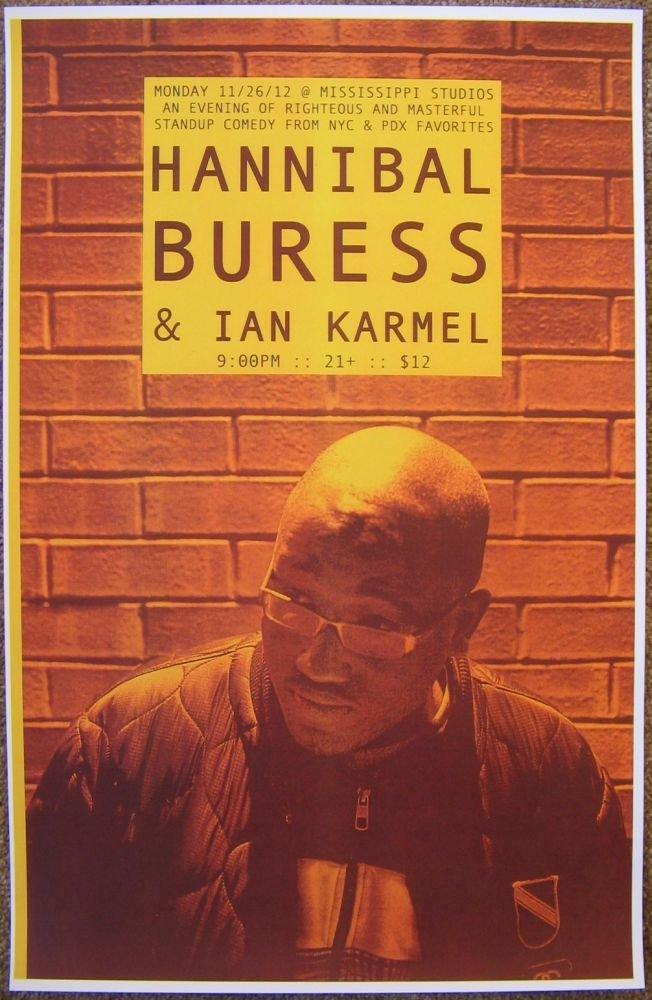Buress HANNIBAL BURESS 2012 Gig POSTER Portland Oregon Comedy