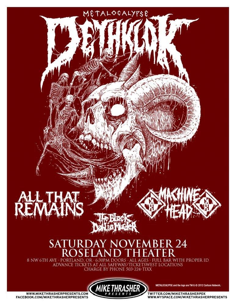 DETHLOK 2012 Gig POSTER Portland Oregon Concert