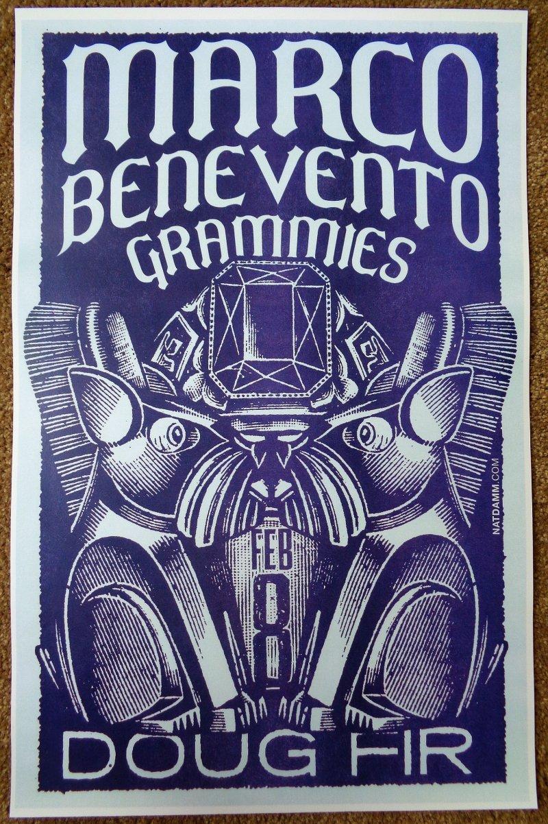 Benevento MARCO BENEVENTO 2013 Gig POSTER Portland Oregon Concert