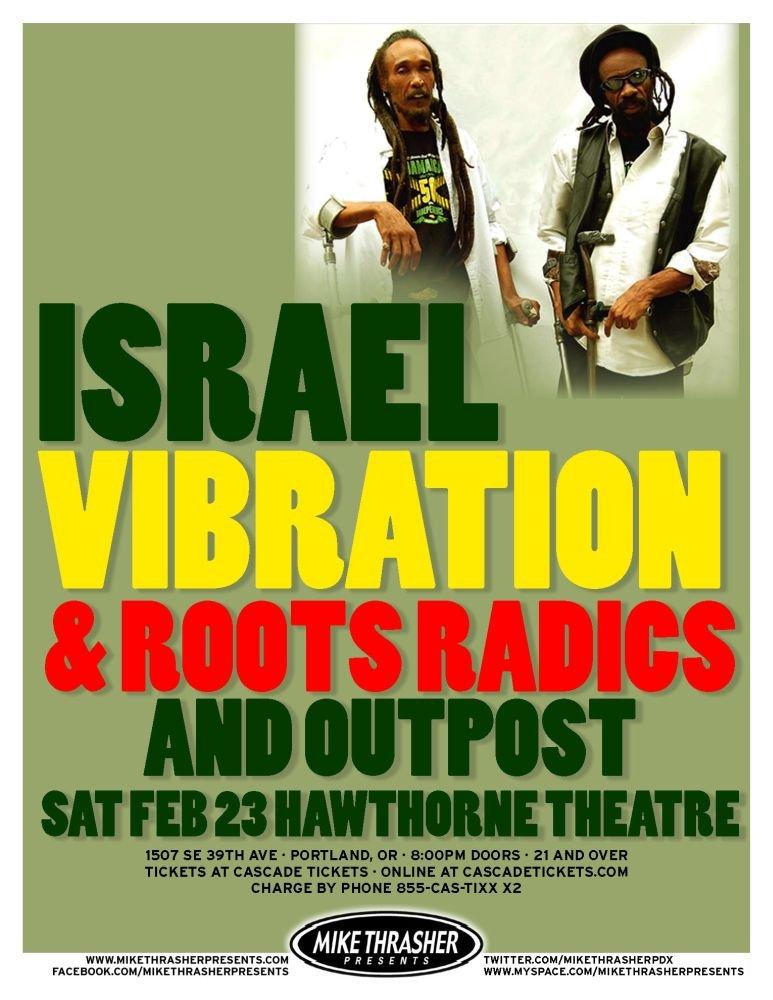 ISRAEL VIBRATION 2013 Gig POSTER Portland Oregon Concert Reggae