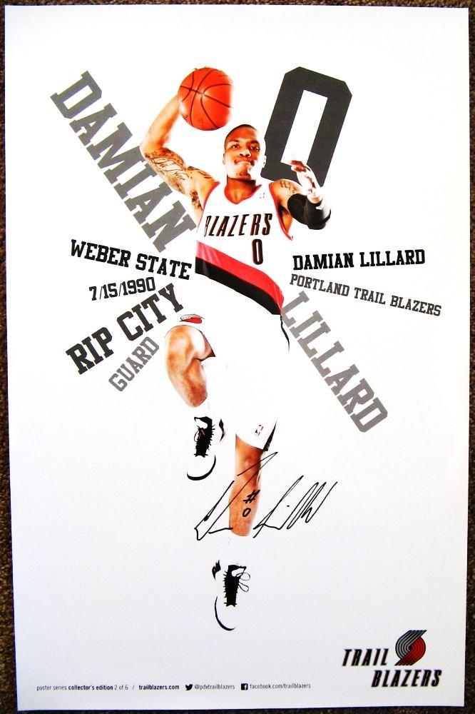 Lillard DAMIAN LILLARD ROOKIE POSTER 2012-3 Blazers Game Handout Portland