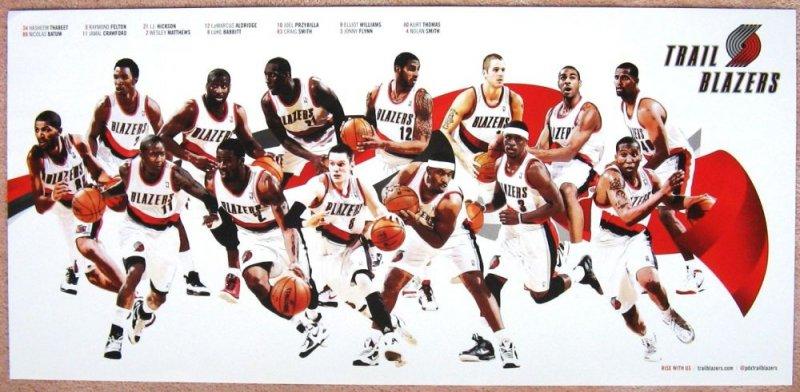 Portland Trailblazers 2011-12 Blazers Game Handout TEAM POSTER LaMarcus Aldridge