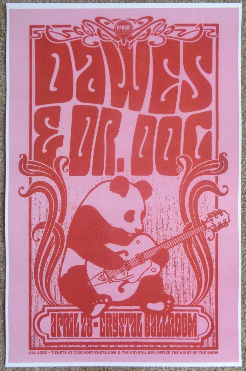 Image 0 of DAWES & DR. DOG 2013 Gig POSTER Portland Oregon Concert Version 1