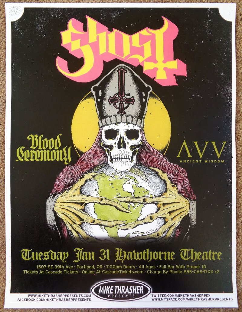 Assez Music Posters - Posters Rock/Pop Gig G-P - GHOST BC 2012 Gig  BK32