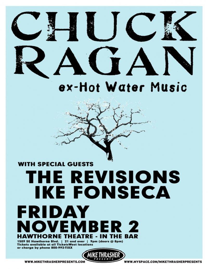 Ragan CHUCK RAGAN 2007 Gig POSTER Portland Oregon Concert