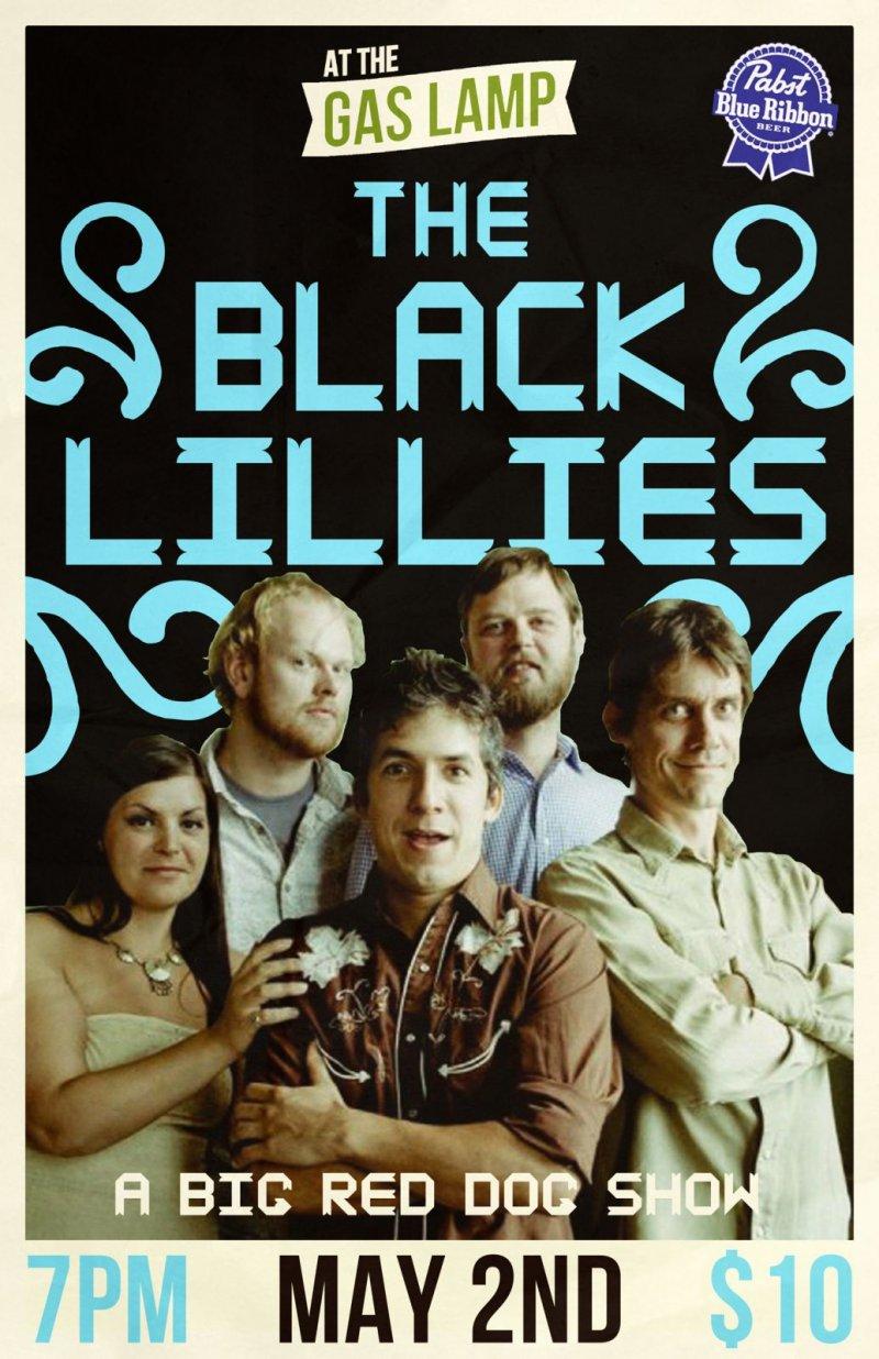 BLACK LILLIES 2013 Gig POSTER Des Moines Iowa Concert